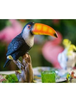 Toucan résine sur support 32cm