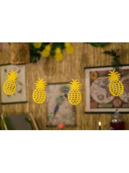 Guirlande 10 ananas or paillettes 3m