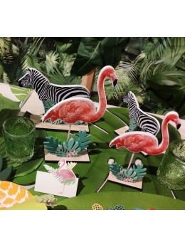 Centre de table flamant rose 20 cm