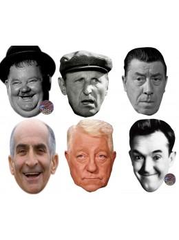 Assortiment 6 masques age d'or du cinéma