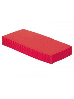 50 serviettes papier rouge pliage rectangle