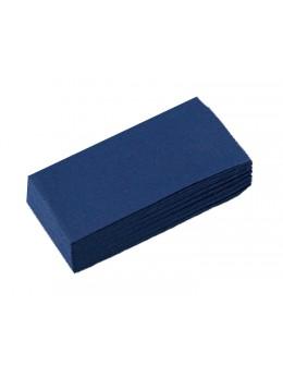 50 serviettes papier bleu pliage rectangle