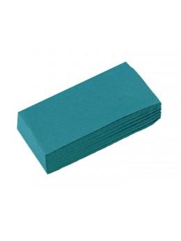 50 serviettes papier turquoise pliage rectangle