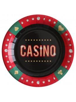 8 Assiettes Casino 22.5cm