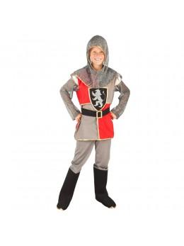 Déguisement chevalier enfant gris et rouge