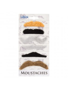 Pack 6 moustaches assorties