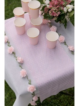 Guirlande de roses rose 1m20