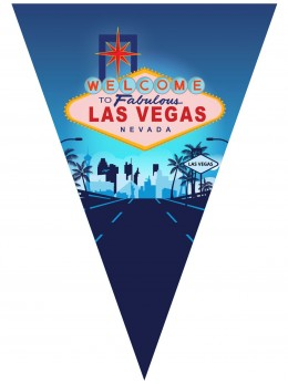Guirlande fanions Las Vegas 5m
