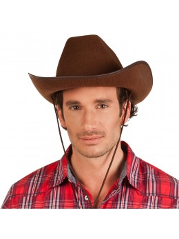 Chapeau cowboy Dallas marron