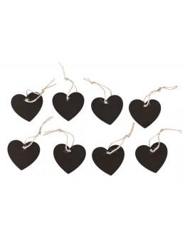 8 Marque-place coeur ardoise