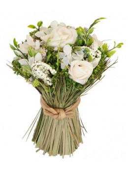Fagot centre de table bouquet de roses