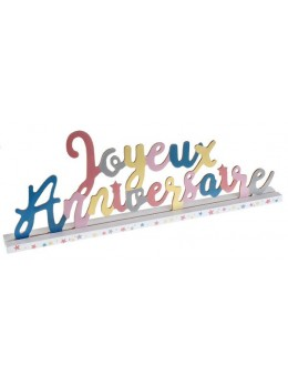 Lettres Joyeux anniversaire multicolore
