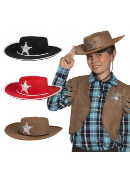 Pack 4 chapeaux cowboy enfant