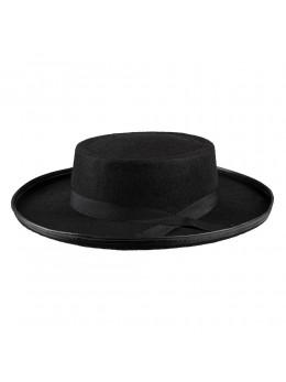 Chapeau folklorique feutre noir