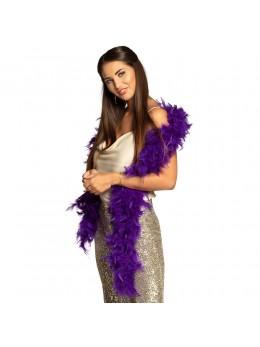 Boa en plumes 1m80 violet
