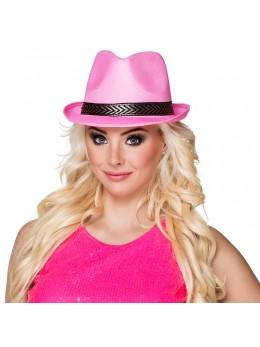 Chapeau Tony polyester rose pink