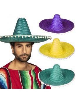 Sombrero avec pompons 50cm