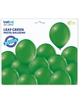 25 ballons premium vert