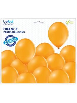 25 ballons premium orange