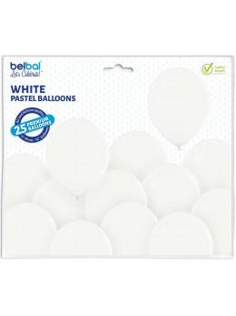 25 ballons premium blanc