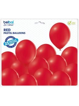 25 ballons premium rouge