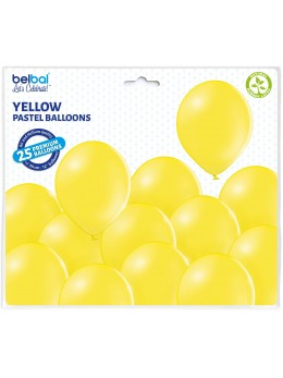 25 ballons premium jaune
