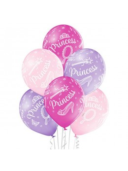 6 ballons princesse 30cm