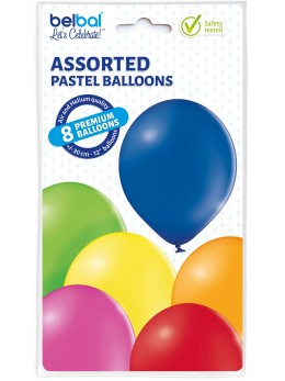 8 Ballons multicolore 30cm