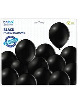 25 ballons premium noir