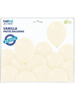 25 ballons premium vanille