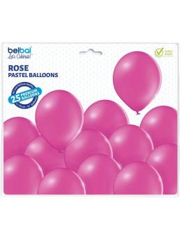 25 ballons premium rose fuchsia