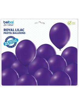 25 ballons premium violet