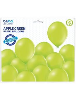 25 ballons premium vert pomme
