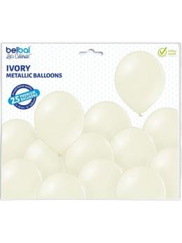 25 ballons premium ivoire métal
