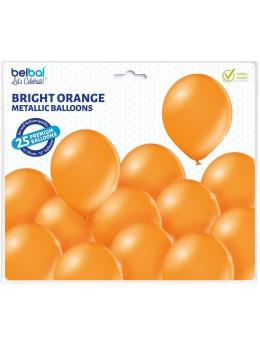 25 ballons premium orange métal