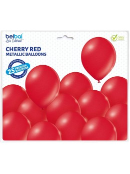 25 ballons premium rouge métal