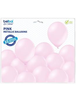 25 ballons premium rose pink métal