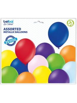 25 ballons premium métal assortis