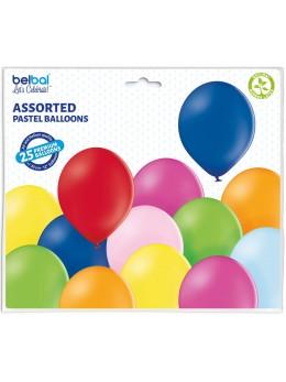 25 ballons premium multicolores