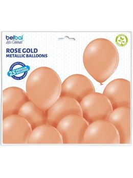 25 ballons premium rose gold métal