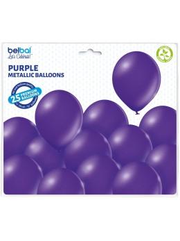 25 ballons premium violet métal