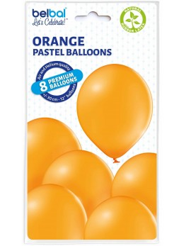 8 Ballons Orange 30cm