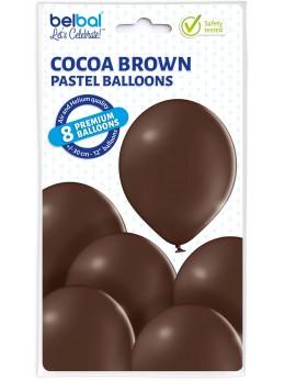 8 Ballons Chocolat 30cm
