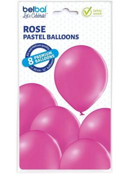 8 Ballons Fuchsia 30cm