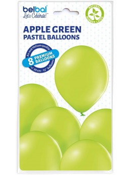 8 Ballons Vert pomme 30cm