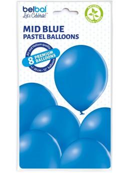 8 Ballons Bleu roi 30cm