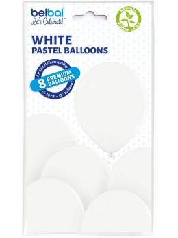 8 Ballons Blanc 30cm