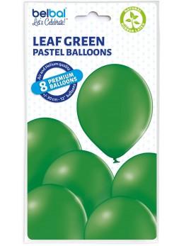 8 Ballons Vert forêt 30cm