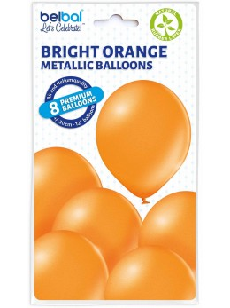 8 Ballons orange nacré 30cm