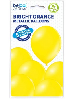 8 Ballons jaune nacré 30cm